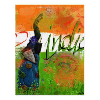 Ik houd van India Briefkaart