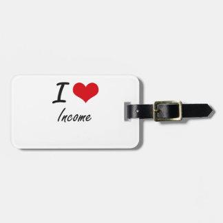 Ik houd van Inkomen Bagagelabel