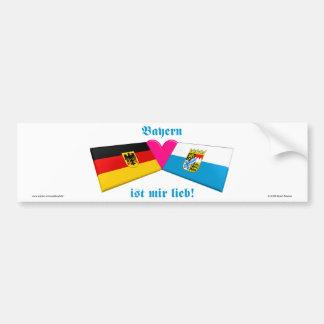 Ik houd van IST van Beieren/van Beieren mir lieb Bumpersticker