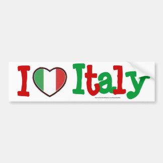 Ik houd van Italië Bumpersticker