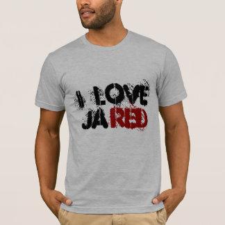ik houd van, ja, rood t shirt