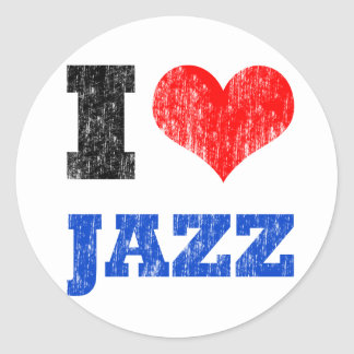 Ik houd van Jazz Ronde Sticker
