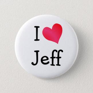 Ik houd van Jeff Ronde Button 5,7 Cm
