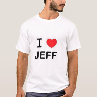 Ik houd van jeff t shirt
