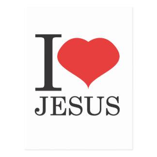 Ik houd van JESUS Briefkaart