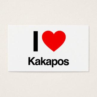 ik houd van kakapos visitekaartjes