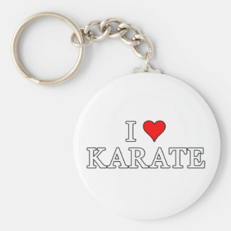 Ik houd van Karate Keychain Sleutelhanger
