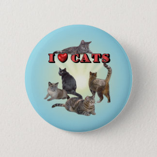 Ik houd van Katten Ronde Button 5,7 Cm