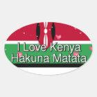 Ik houd van! Kenia Hakuna Matata Ovale Sticker