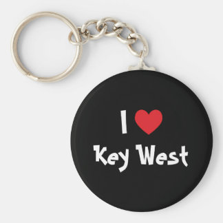 Ik houd van Key West Florida Basic Ronde Button Sleutelhanger