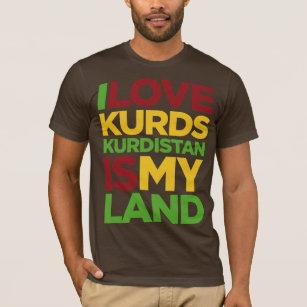 Ik houd van Koerden & Koerdistan T Shirt