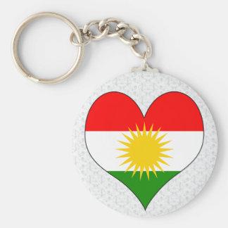 Ik houd van Koerdistan Basic Ronde Button Sleutelhanger