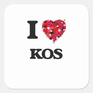 Ik houd van Kos Vierkante Sticker