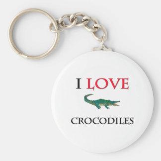 Ik houd van Krokodillen Sleutelhanger