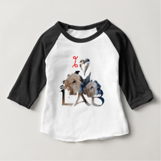Ik houd van Laboratorium Baby T Shirts