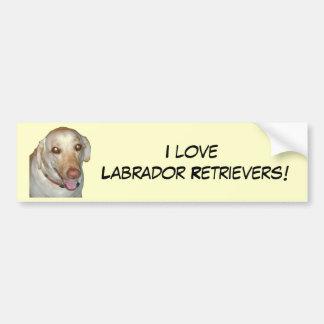 Ik houd van Labradors! De Sticker van de bumper