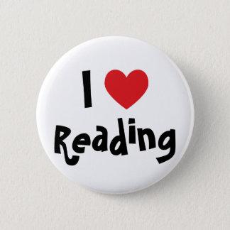 Ik houd van lezend ronde button 5,7 cm