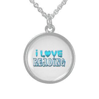 Ik houd van lezend sterling zilver ketting