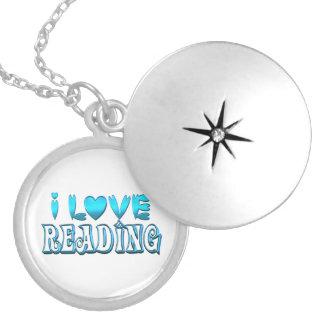 Ik houd van lezend zilver vergulden ketting