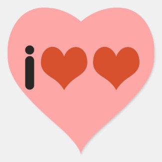 ik houd van liefde - harten hart sticker