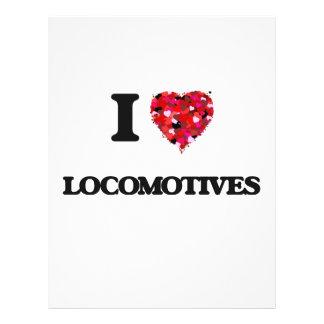 Ik houd van Locomotieven Flyer 21,6 X 27,9 Cm