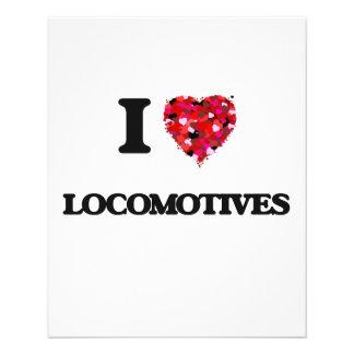 Ik houd van Locomotieven Flyer 11,4 X 14,2 Cm