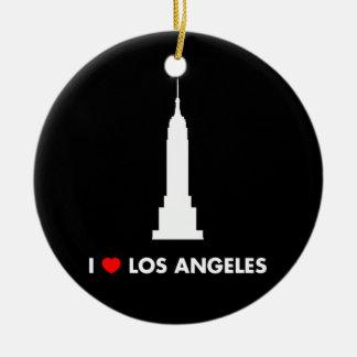 Ik houd van Los Angeles - Empire State Building Rond Keramisch Ornament