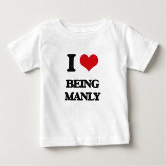 Ik houd van Mannelijk zijnd Baby T Shirts