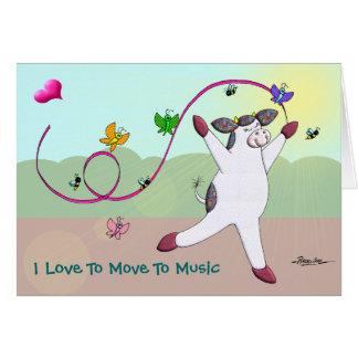 Ik houd van me aan Muziek te bewegen Kaart