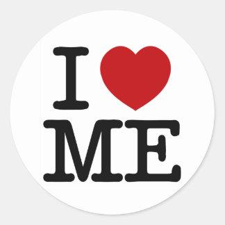 Ik houd van me Hart me de zelfwaardigheid van het Ronde Sticker