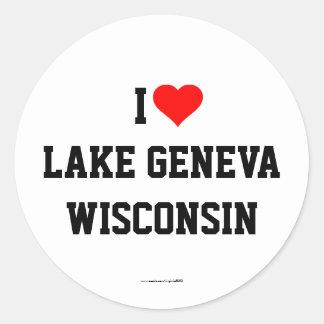 Ik houd van Meer de stickers van Genève, Wisconsin