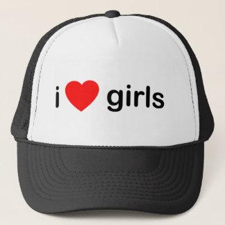 Ik houd van Meisjes Trucker Pet