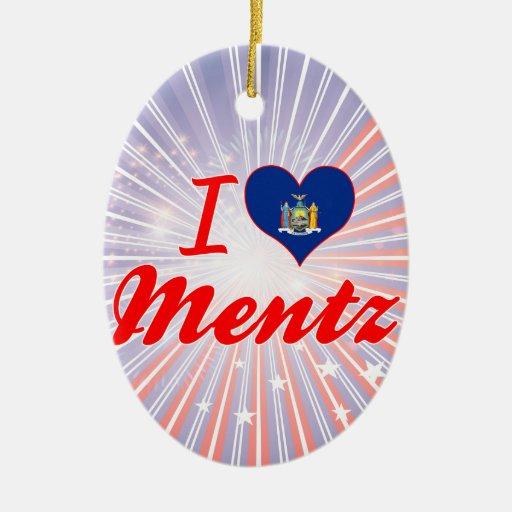Ik houd van Mentz, New York Kerstboom Ornament