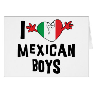 Ik houd van Mexicaanse Jongens Wenskaart