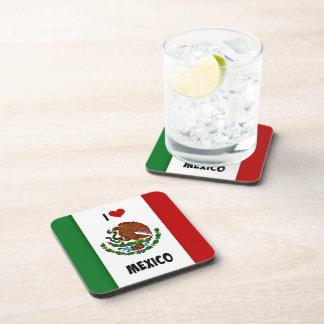 Ik houd van Mexico, Mexicaanse Vlag Drankjes Onderzetter