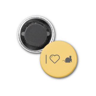 Ik houd van miereneters ronde magneet 3,2 cm