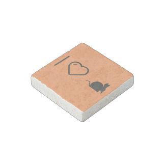Ik houd van miereneters stenen magneetje