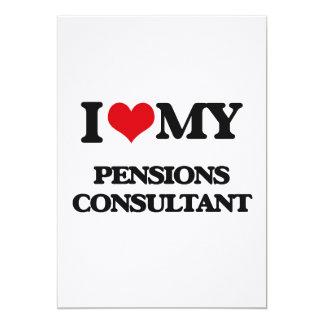 Ik houd van mijn Adviseur van Pensioenen 12,7x17,8 Uitnodiging Kaart