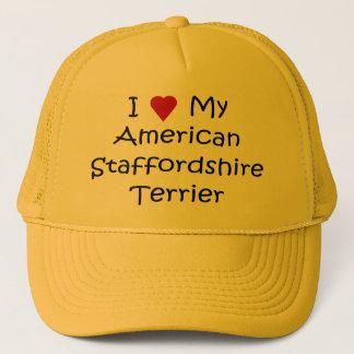 Ik houd van Mijn Amerikaanse Staffordshire Terrier Trucker Pet