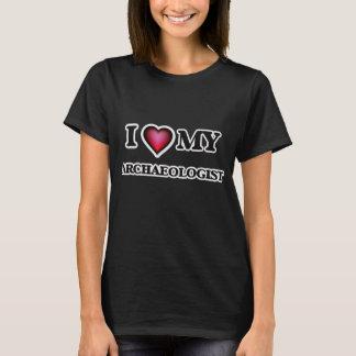 Ik houd van mijn Archeoloog T Shirt