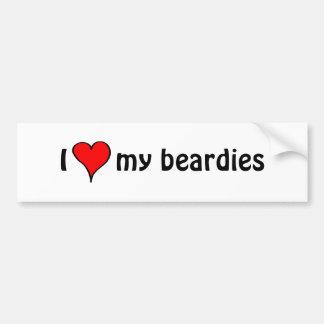 Ik houd van Mijn Beardies Bumpersticker