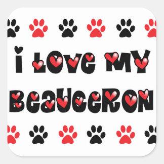 Ik houd van Mijn Beauceron Vierkante Sticker