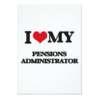 Ik houd van mijn Beheerder van Pensioenen 12,7x17,8 Uitnodiging Kaart