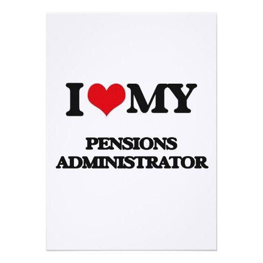 Ik houd van mijn Beheerder van Pensioenen Gepersonaliseerde Uitnodiging