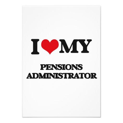 Ik houd van mijn Beheerder van Pensioenen Persoonlijke Uitnodigingen