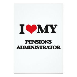 Ik houd van mijn Beheerder van Pensioenen 8,9x12,7 Uitnodiging Kaart