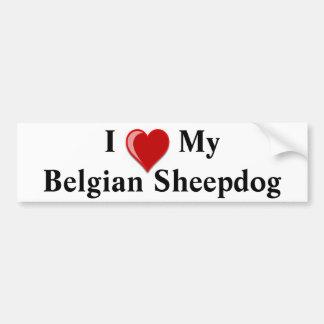 Ik houd van Mijn Belgische Hond van de Herdershond Bumpersticker