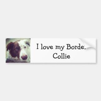 Ik houd van mijn Border collie Bumpersticker