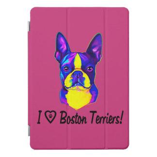 Ik houd van Mijn Boston Terrier in Kleuren iPad Pro Hoesje