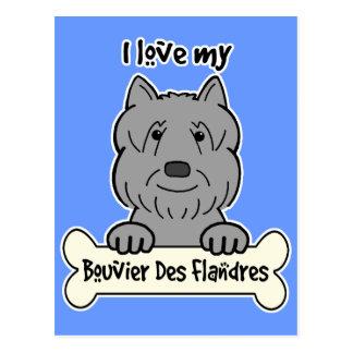 Ik houd van Mijn Bouvier Briefkaart